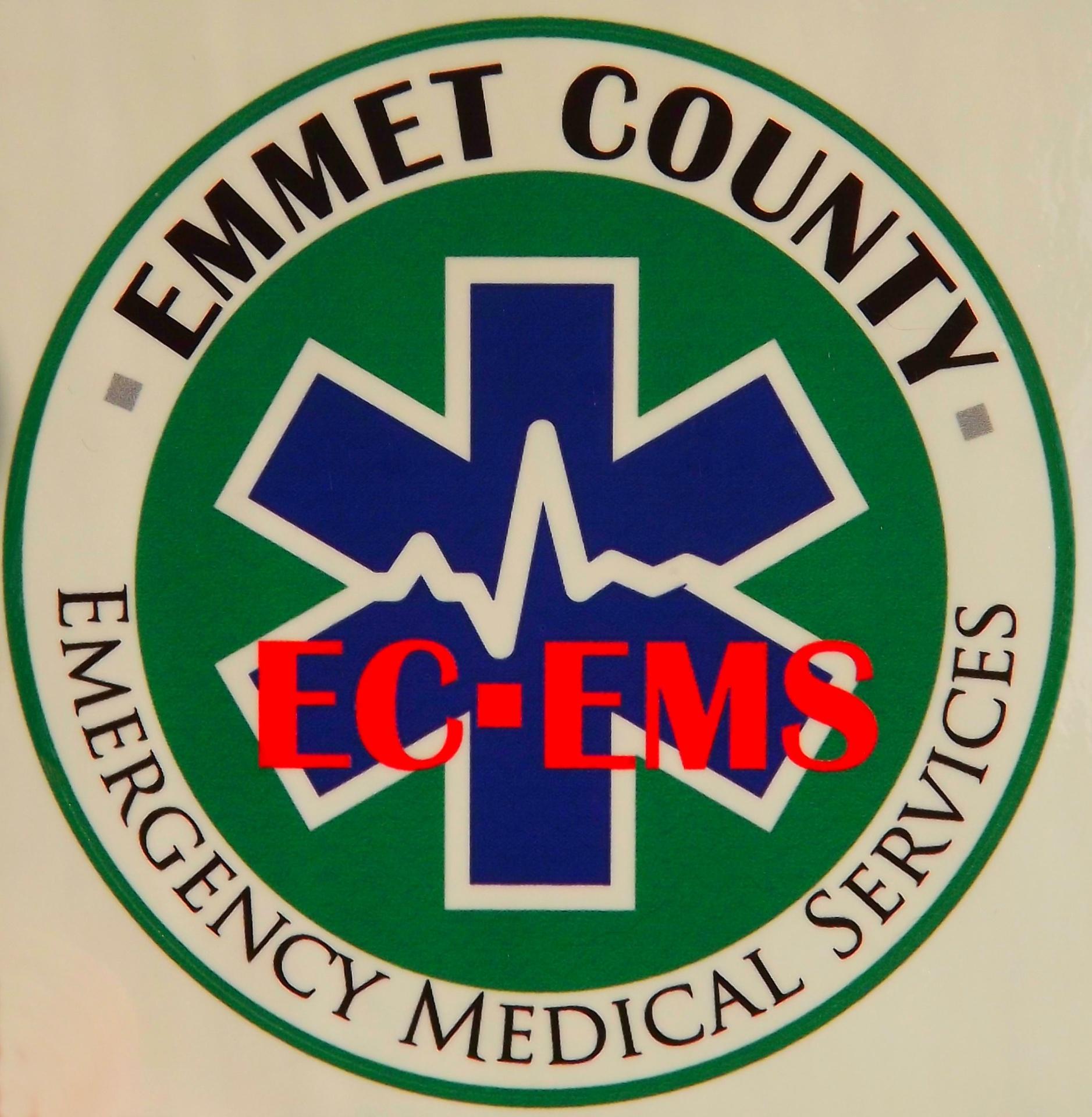 Emmet County EMS vinyl sticker 4inch