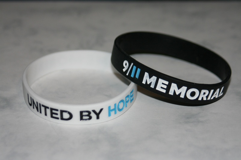Wrist bands from World Trade Center Memorial