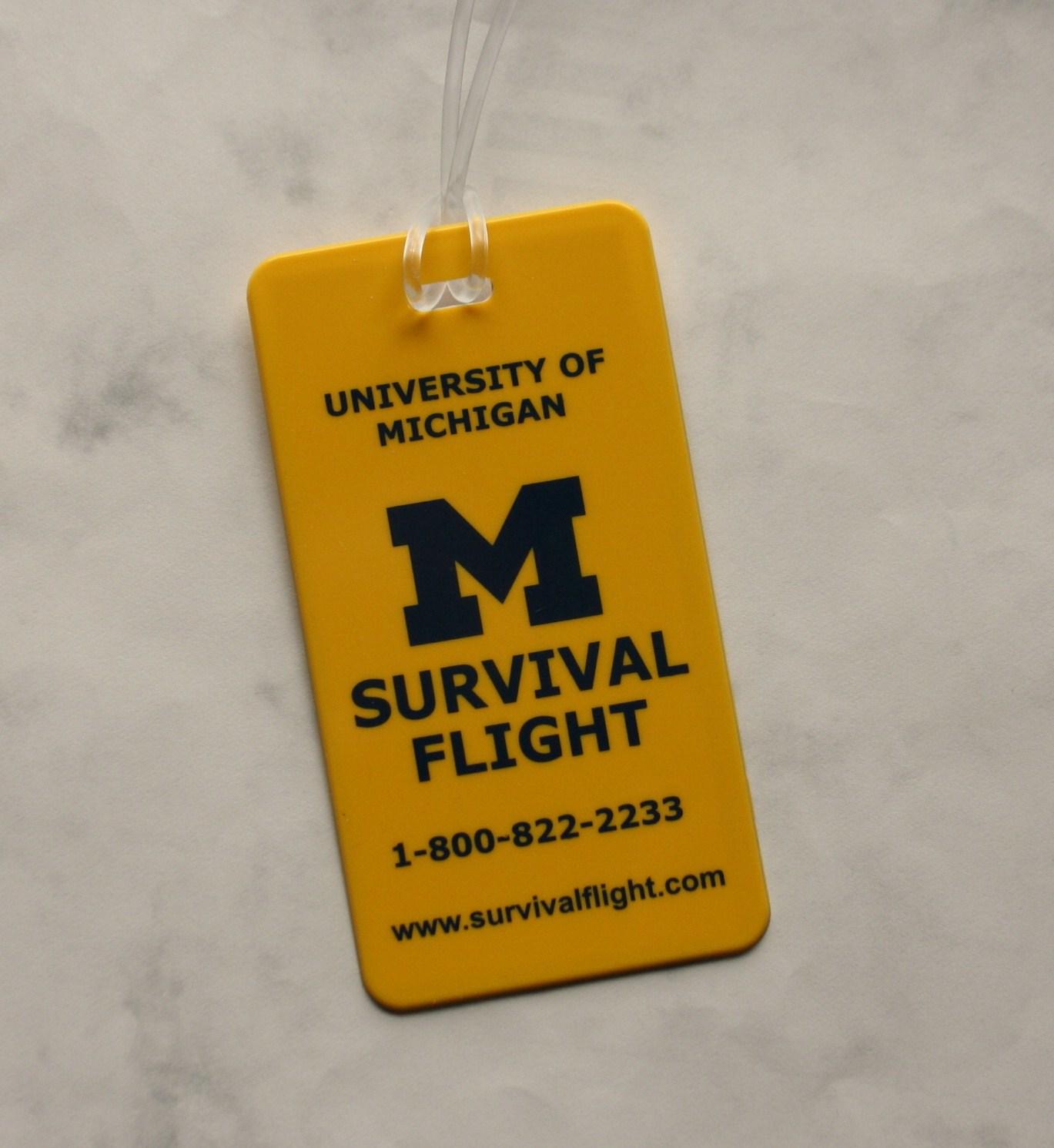 Survival Flight Luggage tag